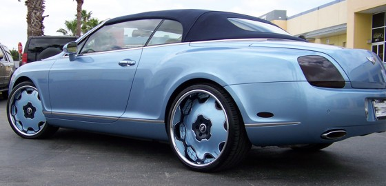 Marcus Banks Baby Blue Bentley Celebrity Carz