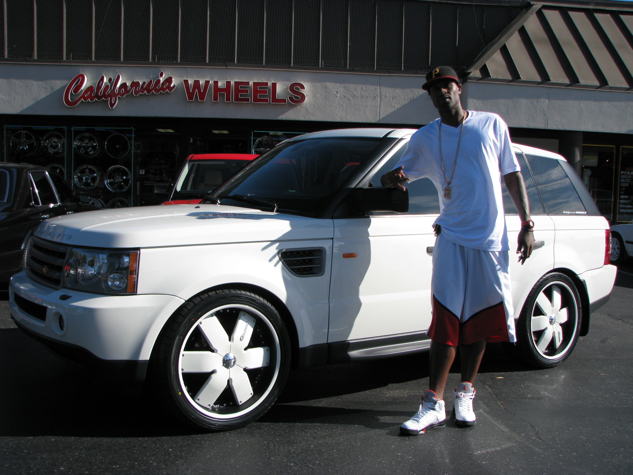 Stephen Jackson and his white Range Rover.