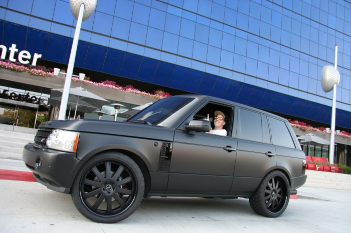Rich Hilfiger and his black Range Rover.