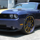 Andrew Bynum Dodge Challenger Platinum Motorsports Purple and Gold