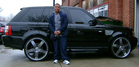 Ray Rice's black 2008 Range Rover Sport Supercharged.