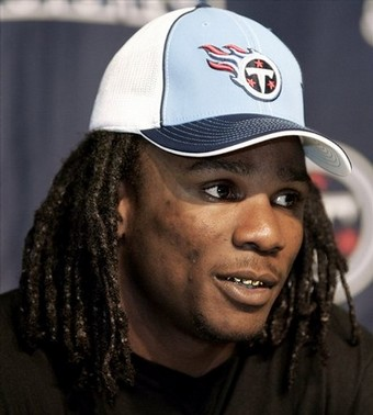 Celebrity Picture  Quiz on First Round Draft Pick  Running Back Chris Johnson  Answers Questions