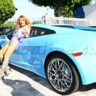 Tila Tequila Car Lamborghini Gallardo Blue
