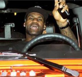 Lebron James New Orange Jeep Wrangler Celebrity Carz