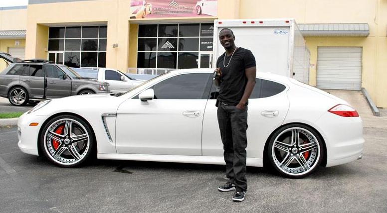 Akon S White Panamera Celebrity Carz