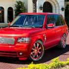 Felix Hernandez Car Red Range Rover MC Customs