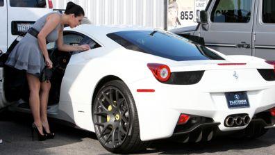 Kim Kardashian Custom White Ferrari 458 Celebrity Carz