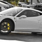 Kim Kardashian Custom White Ferrari 458