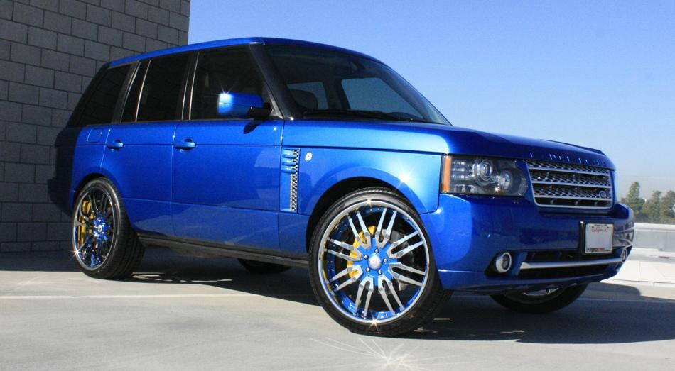 50 Cent S Blue Range Rover Celebrity Carz