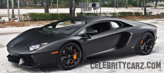 Kobe Bryant Car Flat Black Lamborghini Aventador