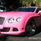 Nicki Minaj Pink Bentley Pictures Celebrity Cars