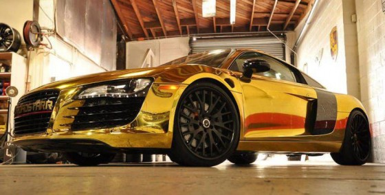 tyga-gold-chrome-r8-2 - Celebrity Carz