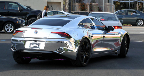 Justin Bieber Chrome Car Fisker Carma 1 Celebrity Carz