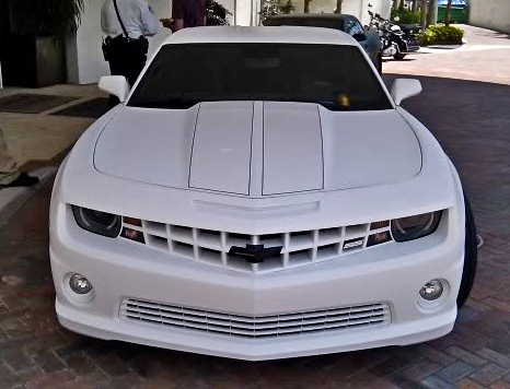 Lebron James New Car White Camaro Ss Celebrity Carz